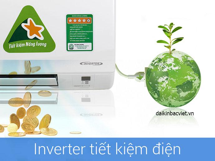 Công nghệ inverter Điều hòa daikin 1 chiều 12000btu inverter ftxm35 tiết kiệm điện hiệu quả