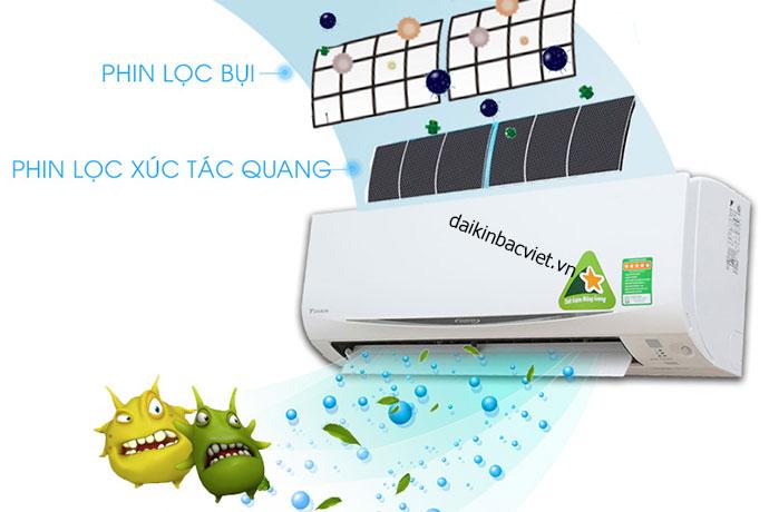Phin lọc xúc tác quang Điều hòa daikin 1 chiều 12000btu inverter ftxm35 lọc sạch vi khuẩn