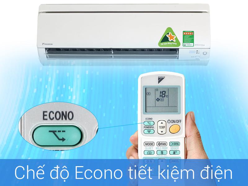 Chế độ Econo Điều hòa daikin 9000btu 2 chiều inverter giới hạn điện năng tiêu thụ