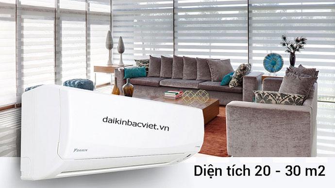Điều hòa Daikin 1 chiều inverter FTKC50QVMV có công suất phù hợp với diện tích phòng dưới 30m2