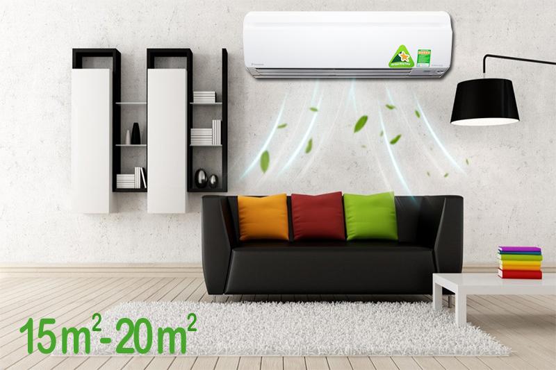 Điều hòa daikin 12000btu 1 chiều inverter ftks35gvmv phù hợp với phòng ngủ diện tích dưới 20m2
