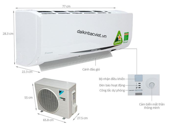 Với nhiều người dùng, kiểu dáng điều hòa Daikin chưa được đánh giá cao.