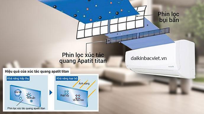 Điều hòa Daikin 1 chiều inverter FTKC50QVMV tích hợp Công nghệ kháng khuẩn, khử mùi hiện đại