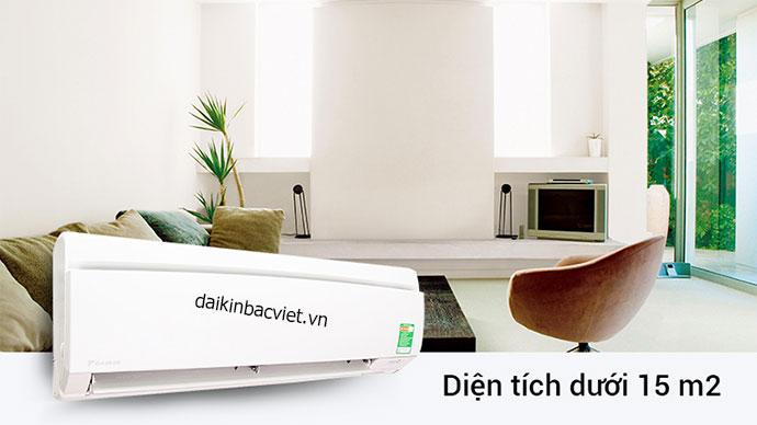 Điều hòa Daikin 9000btu 1 chiều sử dụng cho diện tích dưới 15m2